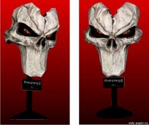 Модель маски смерти из бумаги/картона