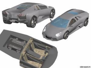 Модель автомобиля Lamborghini Reventon из бумаги/картона