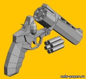 Модель револьвера Taurus Raging Bull 454 из бумаги/картона