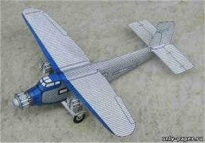Бумажная модель самолета Ford 5-AT Tri-Motor
